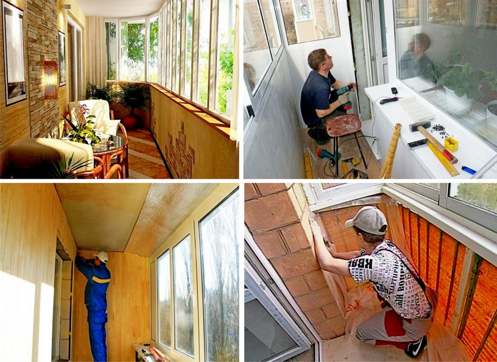 ремонт балкона пошагово в картинках отделка