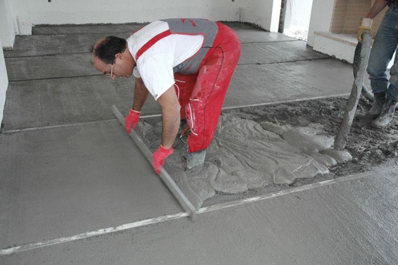 какой цемент лучше для пола в гараже